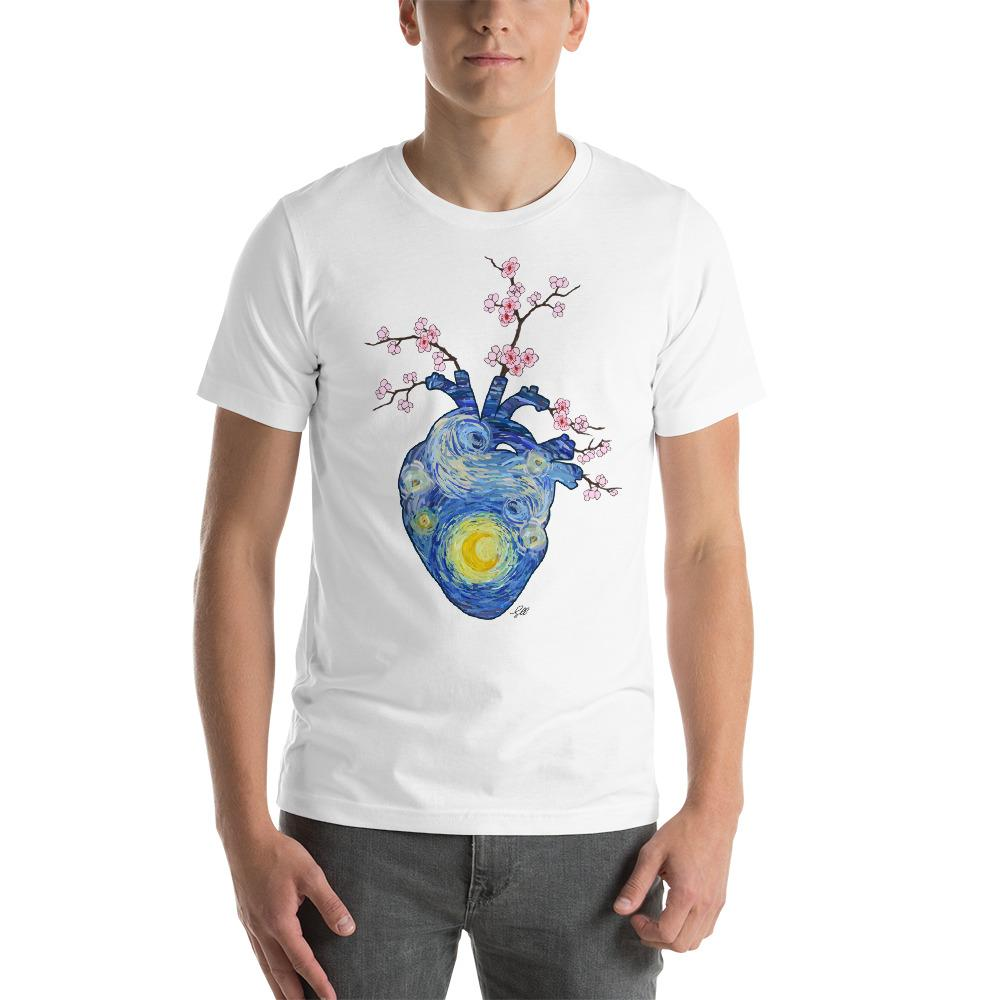 Starry, Starry Heart Unisex Short Sleeve T-Shirt