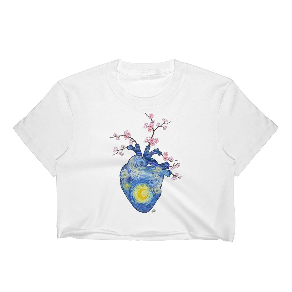 Starry, Starry Heart Women's Crop Top