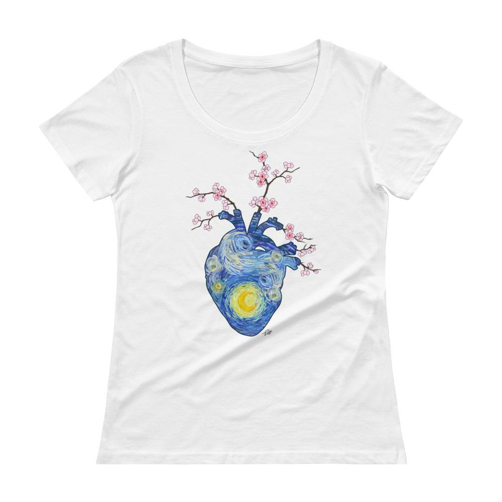 Starry, Starry Heart Women's Scoopneck T-Shirt