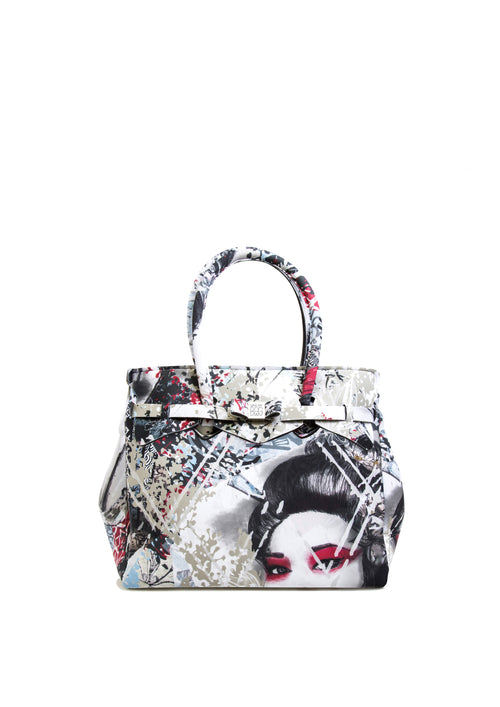 Save My Bag Miss Tote Geisha Print Open View