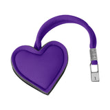Amethyst Purple Heart Key Charm