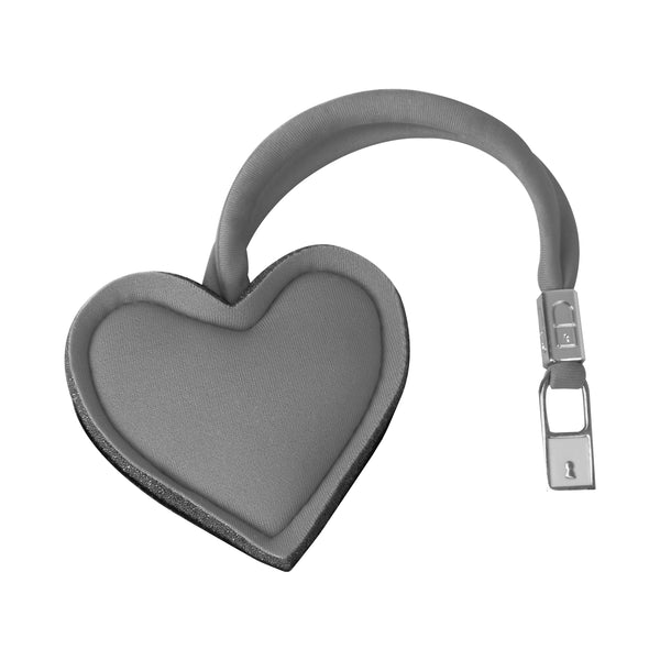 Light Grey Heart Handbag Charm