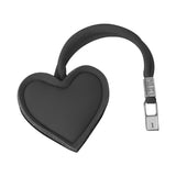 Metallic Graphite Heart Handbag Charm