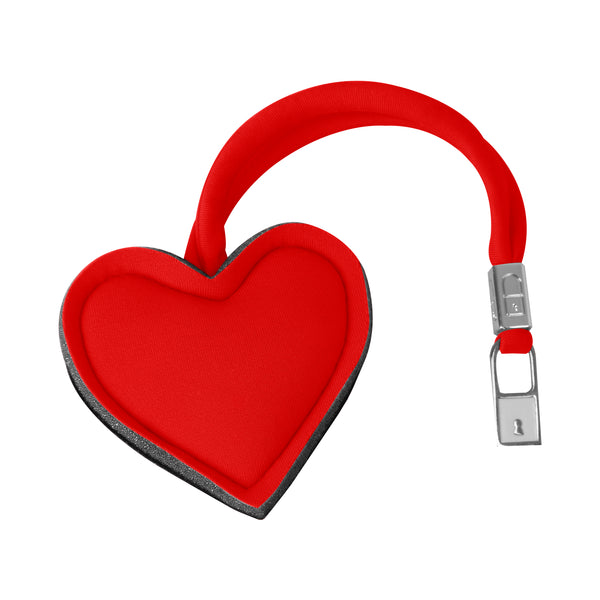 Red Heart Handbag Charm