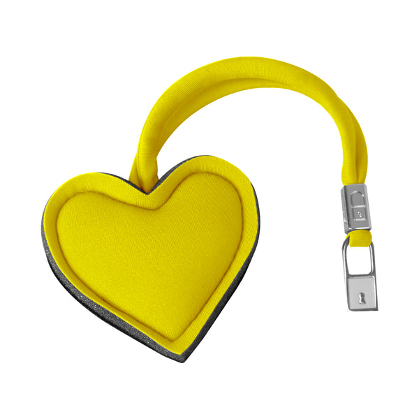 Yellow Heart Handbag Charm
