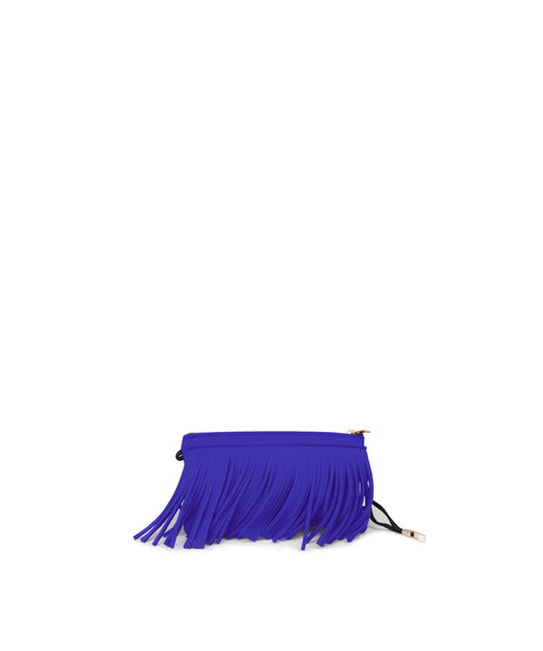 Purple Fringe Clutch