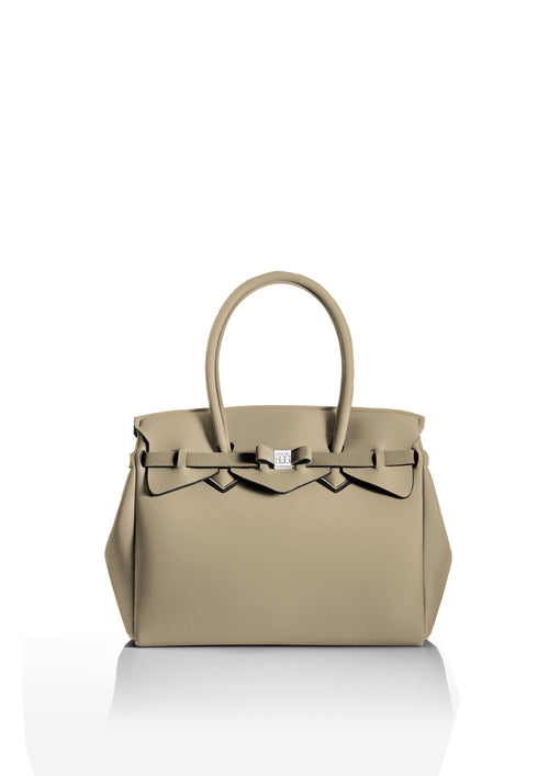 Beige Miss Tote Bag