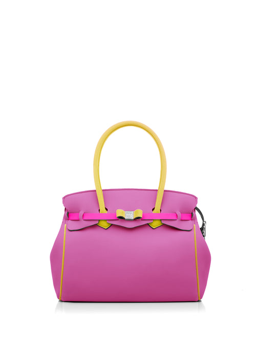 Save My Bag Miss Tote Pink and Yellow
