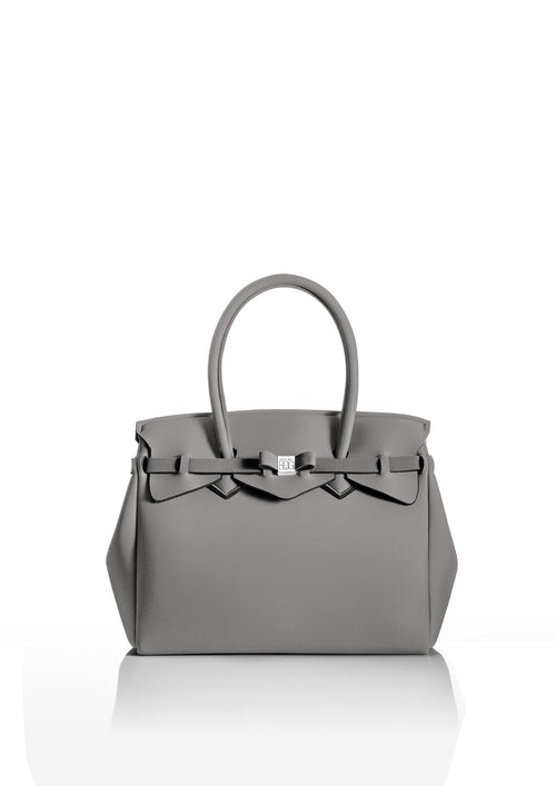 Cloudy Grey Tote Bag