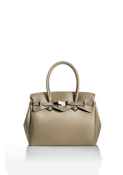 Save My Bag Miss Tote Metallic Cappuccino