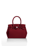 Ox Blood Red Tote Bag