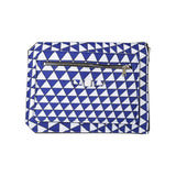 Triangle Print Blue and White Laptop Case Cover Clutch