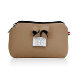 Beige Small Pouch Makeup Case