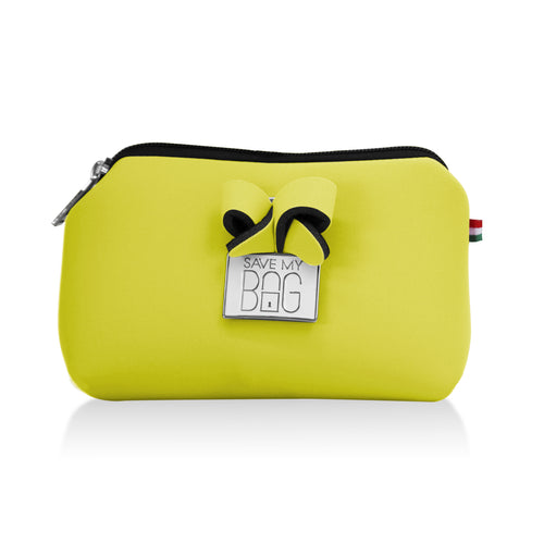 Pastel Yellow Small Pouch Makeup Case