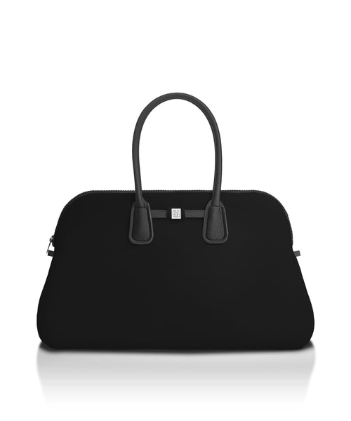 Metallic Black Travel Bag Tote