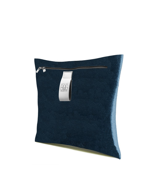 Peacock Blue Velvet Cushion Pillow Cover