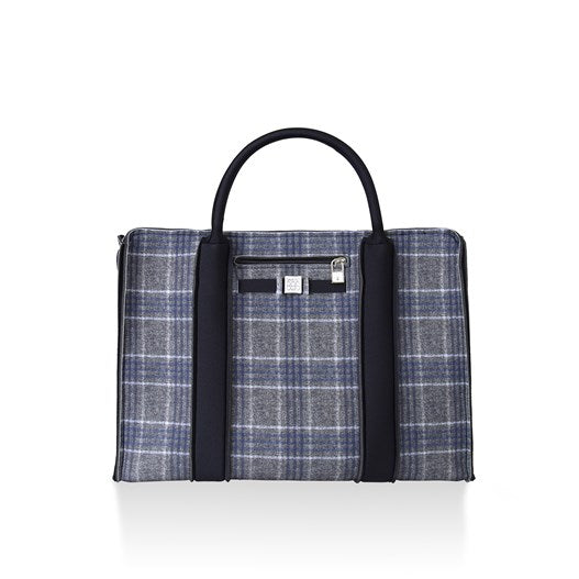 City Briefcase: Plaid