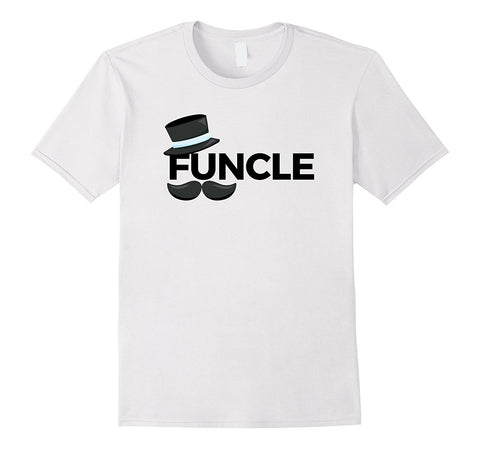 4156e139 Mens Funcle TShirt with Top Hat and Moustache S / White / Men T-Shirt
