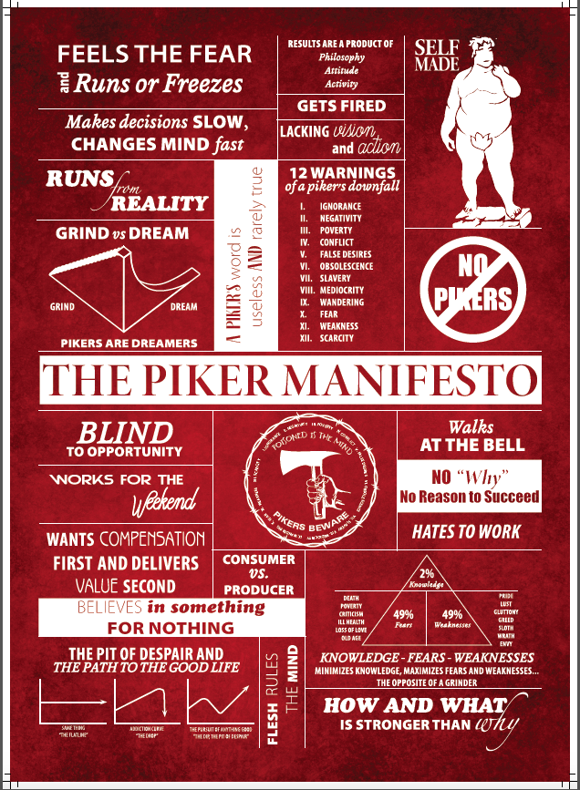 The Piker Manifesto Poster