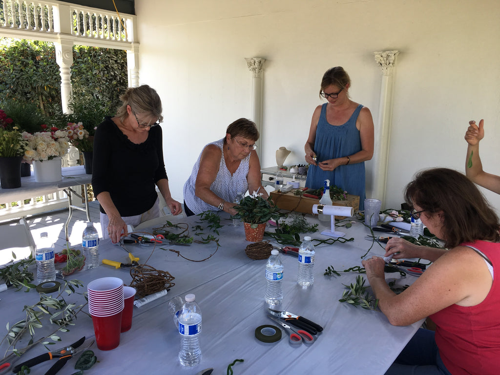 Flower Wearables Workshop led by the Susan Kelly, Marion Moss Floral Design