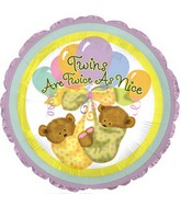 "Twins are Twice as Nice - 18"" Balloon - Unisex"