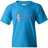 """Twincess"" Pink Personalized Youth T-Shirt (XS-XL) Available in Multiple Colors"