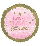 "Twinkle, Twinkle Little Star - 18"" Balloon - Girl(s)"