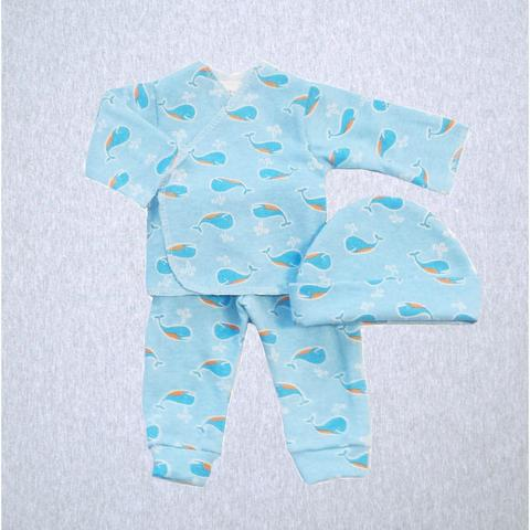 Preemie 3 Piece Set - Long Sleeve Shirt, Pant & Hat (XS - up to 3 lbs) Available in Multiple Colors