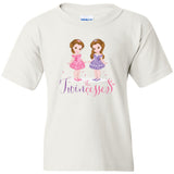 """The Twincesses"" Youth T-Shirt (XS-XL) Available in Multiple Colors"