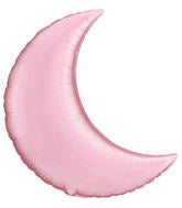 "Pearl Pink Crescent Moon - 35"" Balloon"