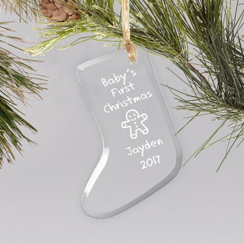 Baby's First Christmas Glass Ornament