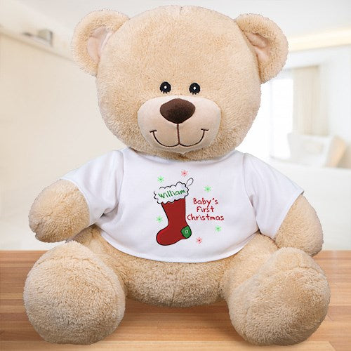 Personalized Baby's First Christmas Teddy
