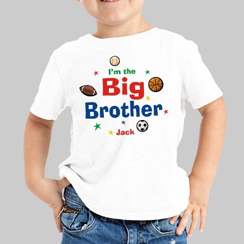 Big Brother / Little Brother Personalized T-Shirt ( Youth sizes XS-L & toddler sizes 2T-4T)