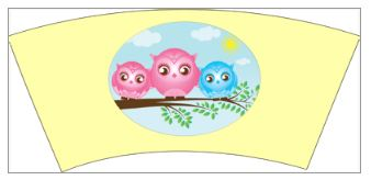 6- Twin Girl/Boy Little Owls 9 oz Cups - 8 Count