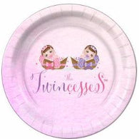 "The Twincesses Baby Shower Dessert Plates 7 "" - 8 Count"