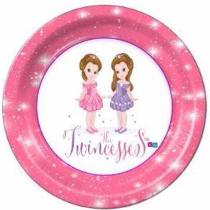 "The Twincesses Dessert Plates 7"" - 8 Count"