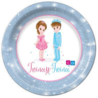 "Twincess and Twince 7"" Dessert Plates - 8 Count"