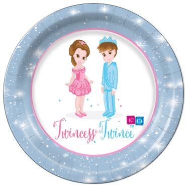 "Twincess and Twince 9"" Dinner Plates - 8 Count"