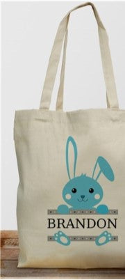 Easter Bunny Personalized Tote Bag