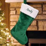 Personalized Festive Green Stocking