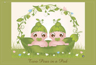 Two Peas In a Pod - Twin Shower Invitation - 10 Pack - ICD