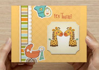 Little Giraffes Twin Shower Invitations - 10 Pack - ICD