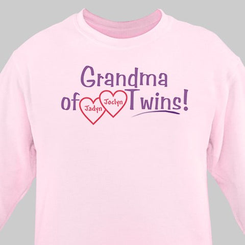 Personalized Grandmother / Grandma of Twins (Multiple Title Options Available)
