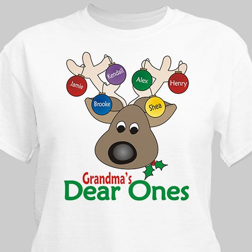 Personalized Dear Ones T-Shirt (Grandma, Mom, Nana, etc)