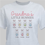 Grandma's or Mommy's Little Bunnies Personalized T-Shirt