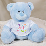 Personalized Heart Teddy Bear (Available in White & Blue)