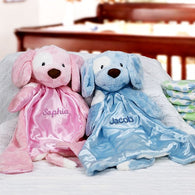 Baby HuggyBuddy(TM)  Blankie - Personalized (Available in Two Colors)