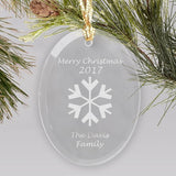Merry Christmas Glass Ornament (Multiple Designs Available)