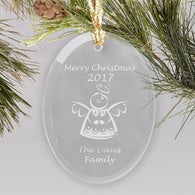 Family Glass Ornament (Multiple Designs Available)