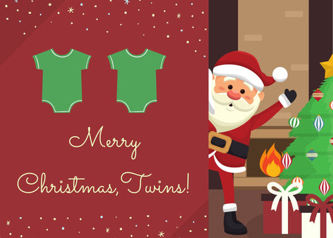 Merry Christmas Twins (Babies, Girl/Girl, Boy/Boy, Girl/Boy)